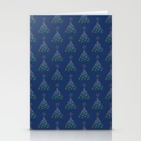Christmas Trees Pattern Stationery Cards