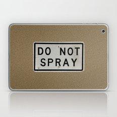 do not spray Laptop & iPad Skin