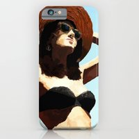 iPhone & iPod Case featuring Beach girl by Dario Olibet