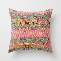 Vintage Whimsy Throw Pillow