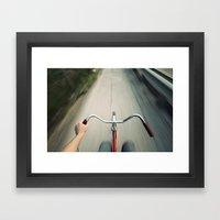 Faster Framed Art Print