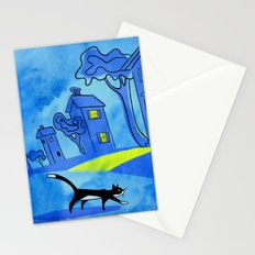 Night Cat On The Prowl Stationery Cards