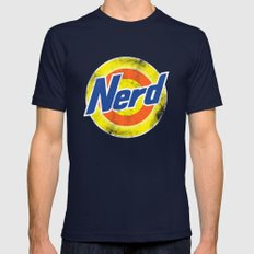 Nerd Mens Fitted Tee Navy SMALL