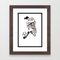 Zinedine Zidane - The Scientist Framed Art Print