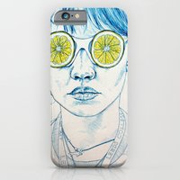 iPhone & iPod Case featuring Lemon Lady by KatePowellArt