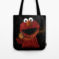Elmo and Little Butterfly Tote Bag