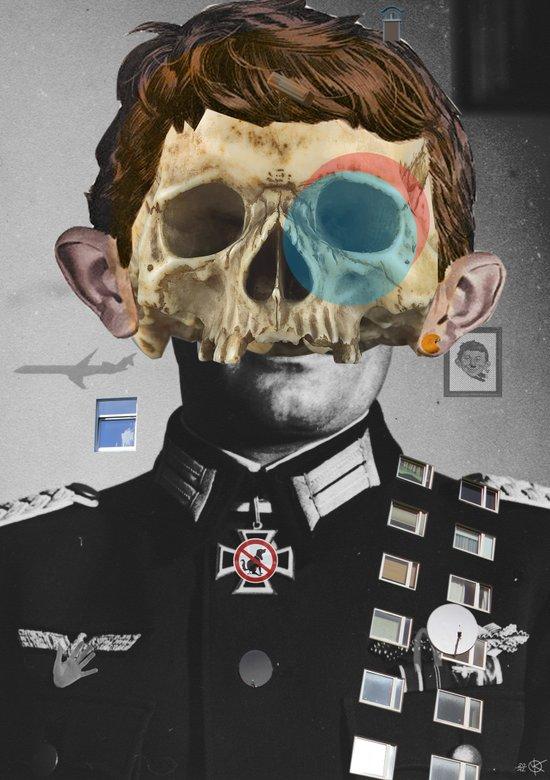 War Collage 2 Art Print