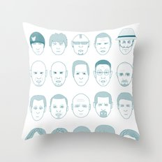 Breaking Bad all Faces Throw Pillow