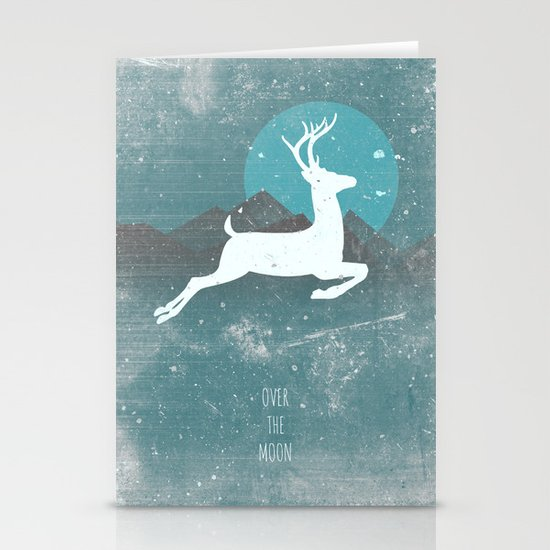 Over The Moon Stationery Card