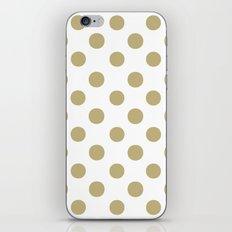Polka Dots (Sand/White) iPhone & iPod Skin