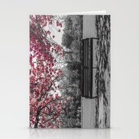 cherry blossom Stationery Cards featuring Cherry Blossom by Claire Doherty