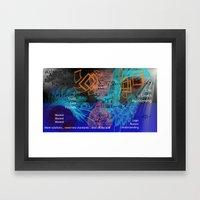 Digital Mind Framed Art Print