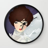 The Wings of the Dove: Violet Wall Clock