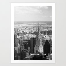 Black and White. Chrysler Building, New York. Art Print