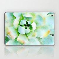 Mint Watercolor Succulent Laptop & iPad Skin
