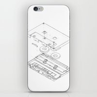 Exploded Cassette Tape  iPhone & iPod Skin