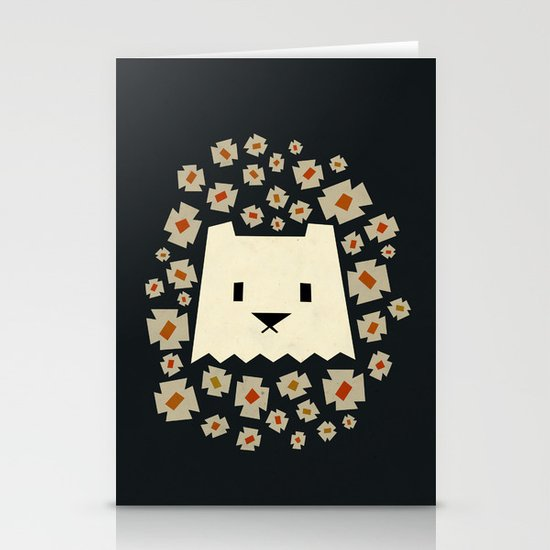 Floral Yeti Stationery Card