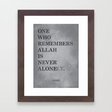 One Who Remembers Allah Framed Art Print
