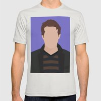 Ryan Reynolds Portrait Mens Fitted Tee Silver SMALL