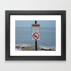 Wanna take a swim Framed Art Print
