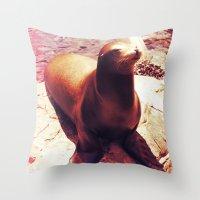 Seal Isn't a Man Throw Pillow