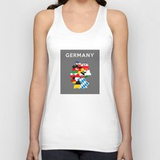 germany regions flag map Unisex Tank Top