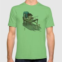 OHS Desk Mens Fitted Tee Grass SMALL