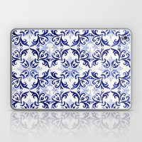 Blue Tile Pattern VI - A… Laptop & iPad Skin