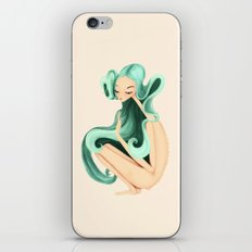 weird girl iPhone & iPod Skin
