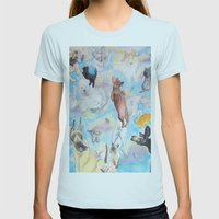 It's Raining! . . . . Womens Fitted Tee Light Blue SMALL