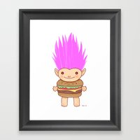 Hamburger Troll Framed Art Print