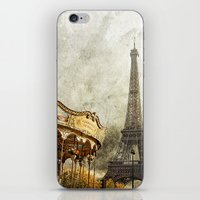 The Carousel and the Eiffel Tower - Paris iPhone & iPod Skin