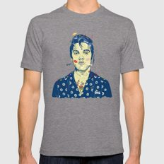 WTF? ELVIS MORNING PARTY Mens Fitted Tee Tri-Grey SMALL