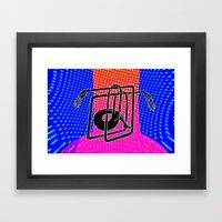 Noodle (blue) Framed Art Print