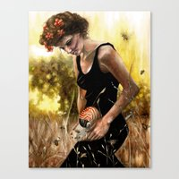 Persephone And The Bees Canvas Print