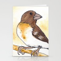 Yellow Rose-breasted Grosbeak Stationery Cards