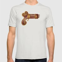 The Leecher Mens Fitted Tee Silver SMALL