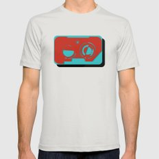 Cassette Mens Fitted Tee Silver SMALL