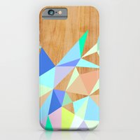 Wooden Geo Aqua iPhone 6 Slim Case