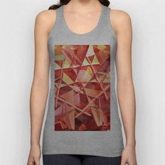3D folded abstract Unisex Tank Top