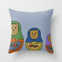 Piptroyshkas Throw Pillow