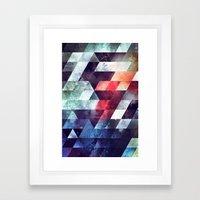 crykkd glyry Framed Art Print
