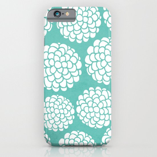 Turquoise Blossoms iPhone & iPod Case