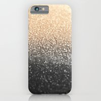 iPhone Cases featuring GOLD BLACK by Monika Strigel