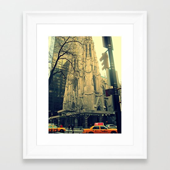 St. Patrick's Cathedral  Framed Art Print