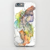 Abstract Portrait Illustration Watercolor Painting  iPhone 6 Slim Case