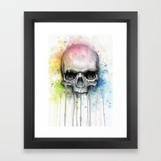 Skull Watercolor Paintin… Framed Art Print