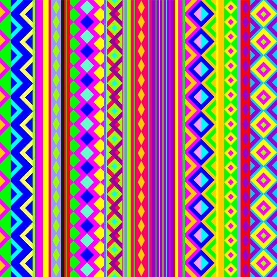 Ethnic Psychedelic Design Art Print