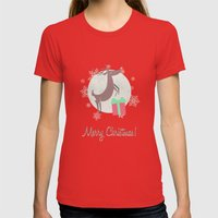 Merry Christmas! Womens Fitted Tee Red SMALL