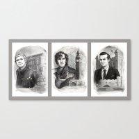 Sherlocked Trio Canvas Print